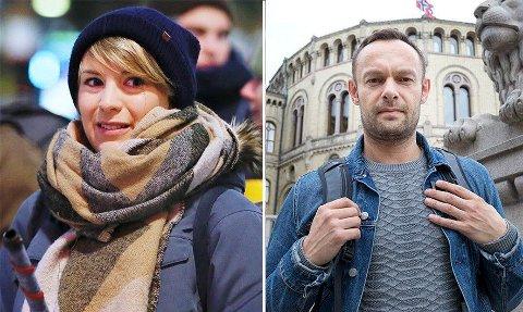 LANDSMØTE: Kari Elisabeth Kaski og Torgeir Knag Fylkesnes mener de har flertall i kampen om å bli SVs nestleder.