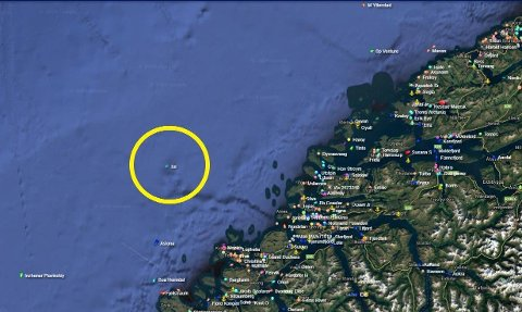 SENDTE NØDMELDING: Det russiske skipet Tor vist på nettsiden Marine Traffic utenfor Ålesund tirsdag.