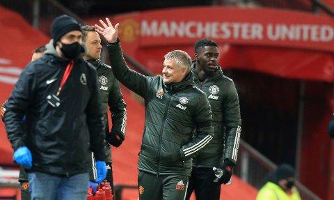 Manchester United-manager Ole Gunnar Solskjær er svært mye omtalt i norske medier i 2020, men ikke så ofte som Erling Braut Haaland. Foto: Lindsey Parnaby / Pool via AP / NTB