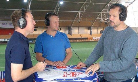Espen Bjørneseth og Kjetil Rekdal sammen med Christian Haksø i Bohemen Live.