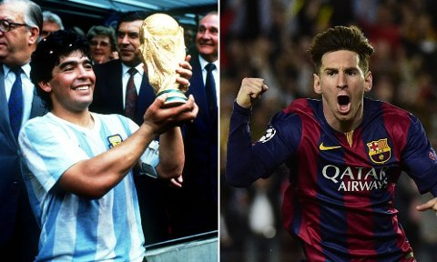 HVEM VELGER DU? Diego Maradona? Lionel Messi? En annen?