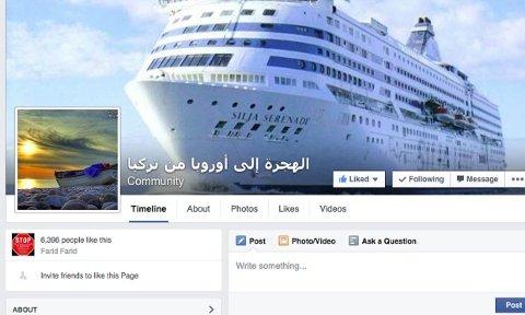 CRUISE: Smuglerne bruker gjerne slike bilder for å vise hvordan turen over Middelhavet vil utarte seg.