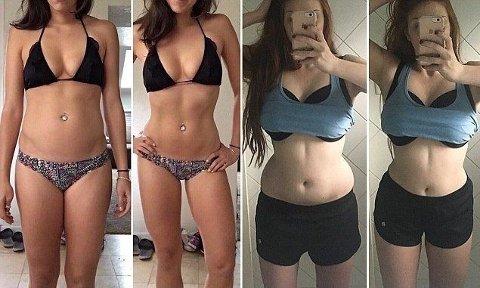 «JUKS»: Suge inn magen og vri kroppen - så ser man straks mer «perfekt» ut. Hashtagen 30secondsbeforeandafter trender på Instagram.