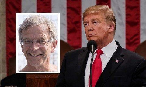Forsker Stein Tønnesson (innfeldt) er spesialist på Nord-Korea. Han roser Donald Trump for arbeidet med å normalisere forholdet til Nord-Korea.