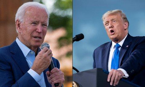 HVEM VINNER? Det er umulig å si om hvem som vil løfte børsene mest av Joe Biden og Donald Trump når en av dem vinner i begynnelsen av november, ifølge investeringsdirektør Alexandra Morris i Skagenfondene.