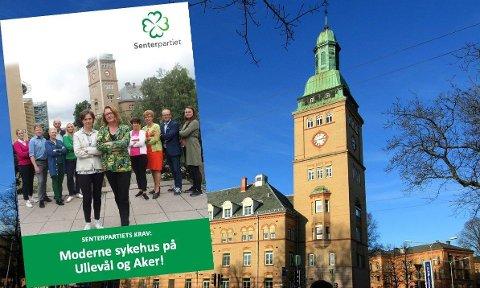 TAPTE: Senterpartiet tapte kampen om å redde Ullevål sykehus, som ble lovet i partiprogrammet.