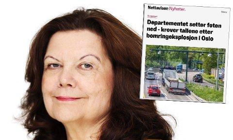 BOMPENGEVEKST: Fjellinjen og administrerende direktør Anne-Karin Sogn legger frem tall for juni som viser at bompengene har økt med 32 millioner kroner fra samme periode i fjor.