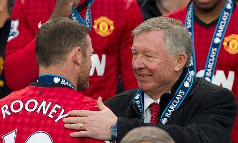 KALDT FORHOLD: Dette bildet ble tatt kort tid etter at sir Alex Ferguson snakket om at Wayne Rooney ønsket å bli solgt i 2013.