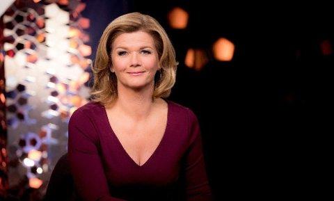 HJERNERYSTELSE: Anne Lindmo falt under en skitur for et par uker siden og pådro seg hjernerystelse, og må fredag stå over innspillingen av talkshowet sitt.
