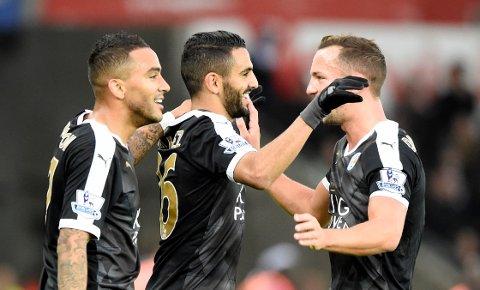 1-2-3: Riyad Mahrez regelrett herjet med Swansea for Leicester.