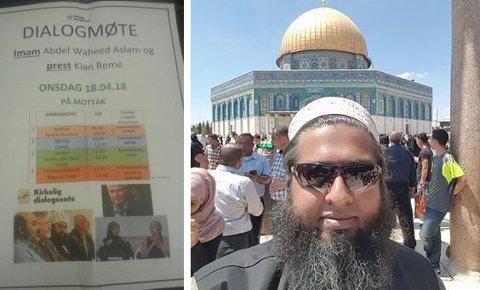 Imam Abdul Waheed Aslam fra Stavanger (th) er blant imamene som blir hentet inn til dialogmøter på norske flykningmottak.