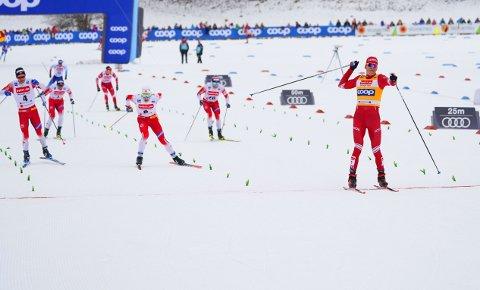 KLASSE: Aleksandr Bolsjunov ble for vanskelig å bryne seg på enda en gang for de norske langrennshåpene.