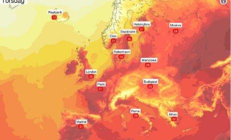 VARMEST: Oslo ligger an til å bli Europas varmeste hovedstad.
