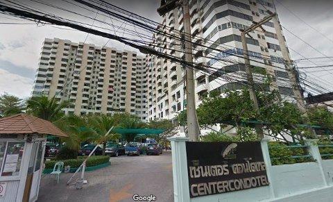 Pattaya Center Condotel, der nordmannen omkom i brann.