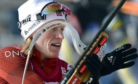 PÅ PALLEN: Tora Berger ble nummer to under sprinten i Holmenkollen.