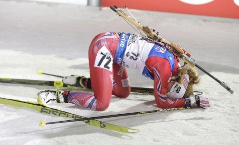 VRAKET: Elise Ringen får ikke gå stafetten i VM.