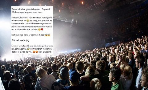 Etter eksplosjonen i Manchester frykter trebarnsmoren Anne Lisa å gå på store konserter eller idrettsarrangementer.