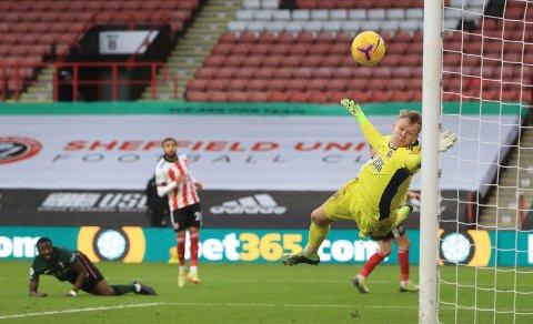 PERLESCORING: Tanguy Ndombele satte inn Tottenhams tredje mål på spektakulært vis.