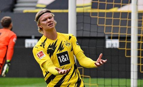 Erling Braut Haaland og Borussia Dortmund fikk en frustrerende kamp i påsken. Samtidig spinner ryktene om framtiden hans videre.