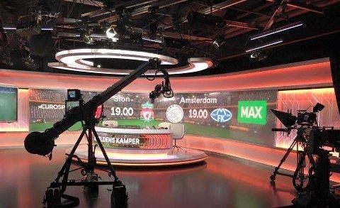 STUDIO: Det var på Ullevaal stadion at UMC produserte mange av sine studiosendinger.Nå flytter selskapet ut av nasjonalarenaen i løpet av året, skriver Dagens Næringsliv.