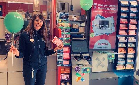 - Det er på tide at vi får en Lotto-millionær i Flesberg, sier Hilde Dokken hos Joker Flesberg. Foto: Privat