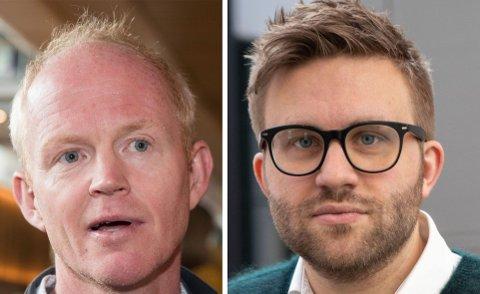 ISKANT: Høyres Stefan Heggelund (til høyre) går hardt ut mot SV og Lars Haltbrekken.