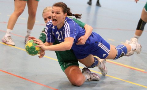 Flytter: Hanne Kvalheim scoret åtte mål mot Anniken Dahl Christensen og Fjellhammer. Etter nyttår flytter hun til Australia.