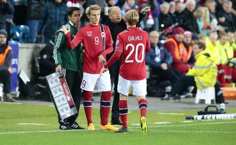 BYTTET INN: Her kommer Martin Ødegaard inn mot Bulgaria.
