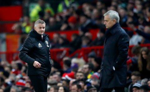 UTSATT: Manchester United og Ole Gunnar Solskjær skulle ha spilt mot Jose Mourinhos Tottenham Hotspur søndag 15. mars, men kampen i London har blitt utsatt.