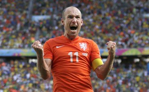 RASK: Arjen Robben har løpt både mye og fort under VM, ifølge FIFAs målinger.