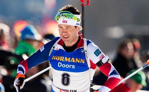 LANGT BAK: Ole Einar Bjørndalen mislyktes i neste sesongs OL-by. Dette bildet er fra VM tidligere i sesongen.