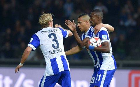 VANT: Per Ciljan Skjelbred og Hertha Berlin vant 3-2 mot Stuttgart.