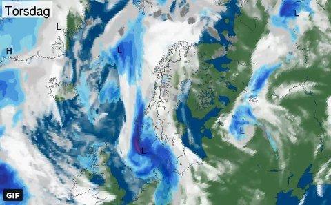 LAVTRYKK: Værprognosene så langt viser at Sør- og Østlandet får de våteste dagene mandag og torsdag til uka, mens tirsdag og onsdag ser brukbare ut.
