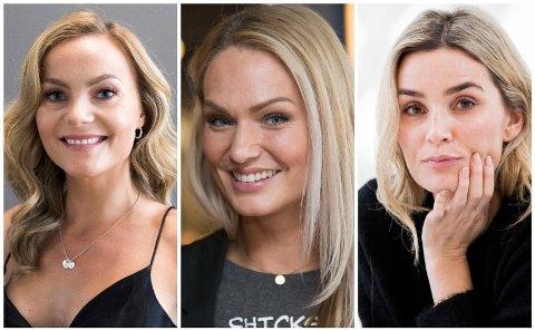 BEST BETALT: Caroline Berg Eriksen, Marna Haugen og Camilla Pihl er de best betalte bloggerne.