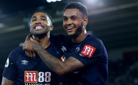 MODNE FOR NYE KLUBBER? Både Joshua King (til høyre) og lagkameraten Callum Wilson kan bli solgt fra Bournemouth til sommeren, ifølge ryktebørsen i England.