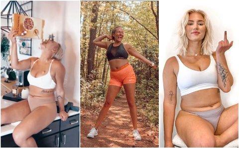 NORMALKROPPEN: Kampanjen #NormalizeNormalBodies er initiert av Mik Zazon (til høyre og venstre), og tusenvis av kvinner verden over deler nå bilder av kroppene sine under samme hasjtag. Hjemme i Norge, har Camilla Lorentzen (midten) gjort stor suksess med #Fitnok.