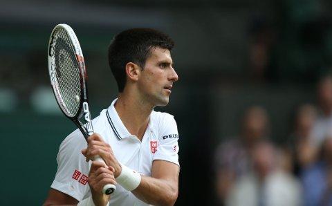 VIDERE: Novak Djokovic fikk en grei oppgavei Wimbledon.