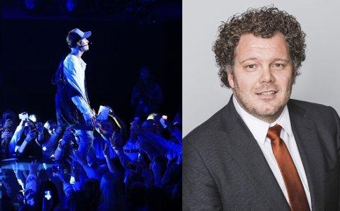 FARLIG: Morten Andreassen presiserer at vann på scenen kan være farlig for artistene. Foto: TV 2 / Moment Studio