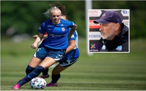 TOPPSIGNERING: På 17. mai ble Karina Sævik bekreftet klar for Avaldsnes. Trener Thomas Dahle er fornøyd med det han har sett av landslagsspilleren så langt, til tross for en tøff sesongstart.