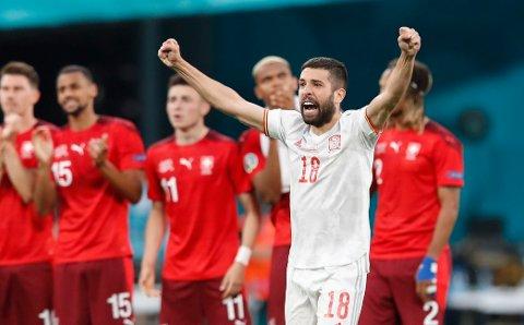 TIL SEMIFINALE: Spania kunne juble for avansement etter straffesparkkonkurranse i EM-kvartfinalen.