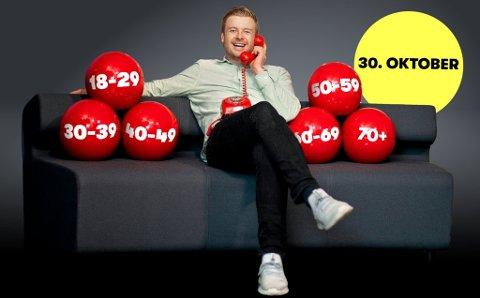 DETTE ER ALDERSGRUPPENE: Én Lotto-spiller i hver av disse aldersgruppene vinner 1 million kroner. Lars Hulleberg i Norsk Tipping er klar til å ringe ferske Lotto-millionærer.