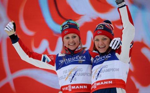 REVANSJ: Ingvild Østberg og Maiken Falla tok gull.
