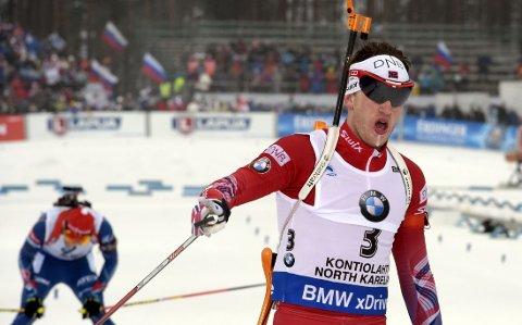 NY MEDALJE: Tarjei Bø har hatt et godt VM så langt.