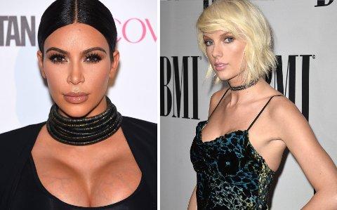FULL KRANGEL: Nå er det full krangel mellom realitystjerna Kim Kardashian, rapperen Kanye West og sangeren Taylor Swift. Foto: Bulls