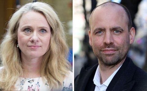 Arbeids- og sosialminister Anniken Hauglie (H) mener Arild Grande (Ap) skyter spurv med kanon.
