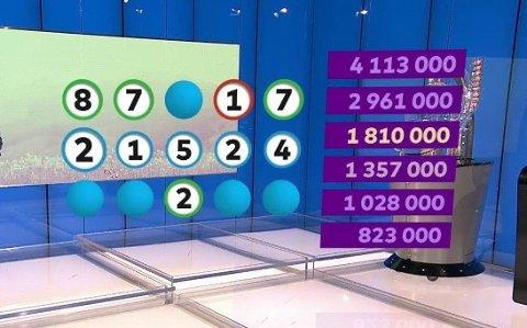Her hadde Joker-kandidaten svært uflaks på tallet 2. Dermed endte vedkommende opp med tredjepremie.