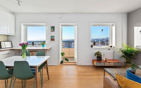 INGEN INTERESSE: Det var nesten ikke interesse for denne 1-romsleiligheten med panoramautsikt rett ved Carl Berners plass.