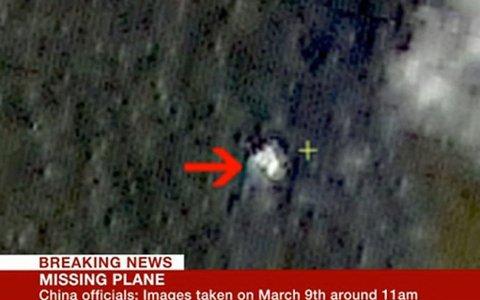 En kinesisk satellitt skal ha observert mulige vrakrester for Malaysia Airlines F370, som har vært sporløst forsvunnet i fem dager. (Skjermdump BBC)