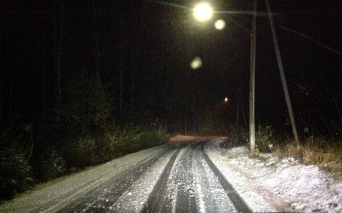 SALT: Greveveien skal ikke saltes, slik det gjøres andre steder i Maridalen. Foto: Privat