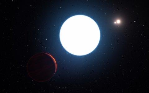 NYOPPDAGET: Slik tenker eksoplanetjegerne i ESO at planet HD 131399Ab ser ut. Planeten er rundt 16 millioner år gammel, noe som gjør den til en av de yngste eksoplanetene som så langt er oppdaget.